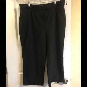 Inc black cropped pant with cuff 18